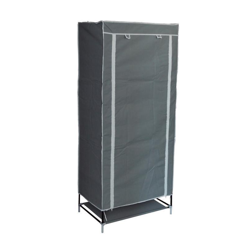 Тканевый шкаф органайзер портативный (1 секция), цвет серый
