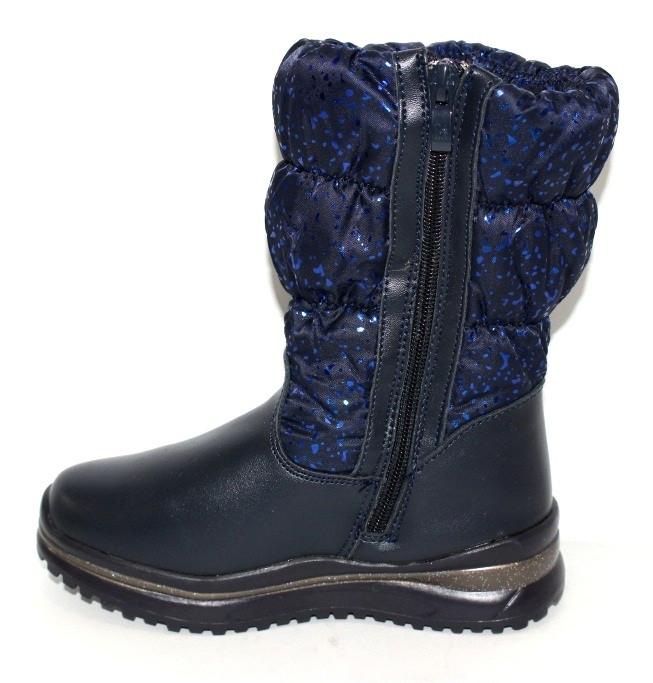 Зимние детские ботинки в синем цвете