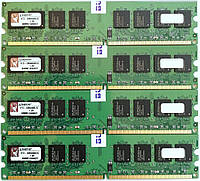 Комплект оперативной памяти Kingston DDR2 8Gb (4*2Gb) 667MHz PC2 5300U 2R8 CL5 (KTD-DM8400B/2G) Новая!, фото 1