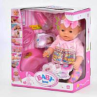 Интерактивный пупс Baby Love 8 функций., фото 1