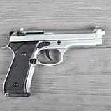Пистолет сигнальный, стартовый Retay Beretta 92FS Mod.92 (9мм, 15 зарядов), титан, фото 3
