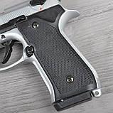 Пистолет сигнальный, стартовый Retay Beretta 92FS Mod.92 (9мм, 15 зарядов), титан, фото 5