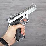 Пистолет сигнальный, стартовый Retay Beretta 92FS Mod.92 (9мм, 15 зарядов), титан, фото 6