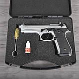 Пистолет сигнальный, стартовый Retay Beretta 92FS Mod.92 (9мм, 15 зарядов), титан, фото 10