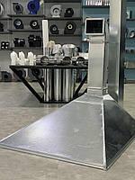 Вытяжные зонты изделия из оцинкованой или нержавеющей стали.