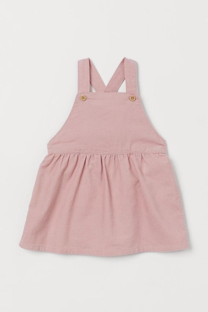 Светло-розовый вельветовый сарафанчик для девочки НМ