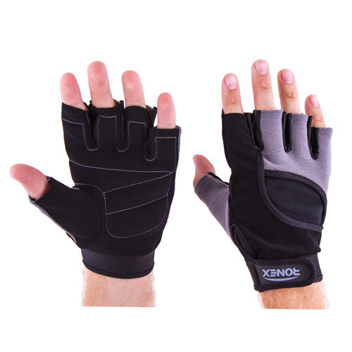 Перчатки атлетические черно-серые Ronex RX-05, размер XL