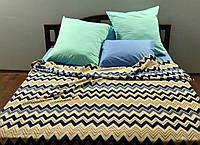 """Плед покрывало на кровать флис """"Waves"""" Двуспальный 170х215 см Gtf"""