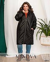 Пальто осень весна размеры от 50 до 62 черный хаки красный стеганое на молнии на синтепоне
