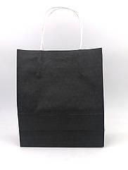 Бумажный пакет черный 27*11*21 см