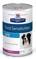 Консерва Hills Prescription Diet Canine D/D с уткой для собак 370г