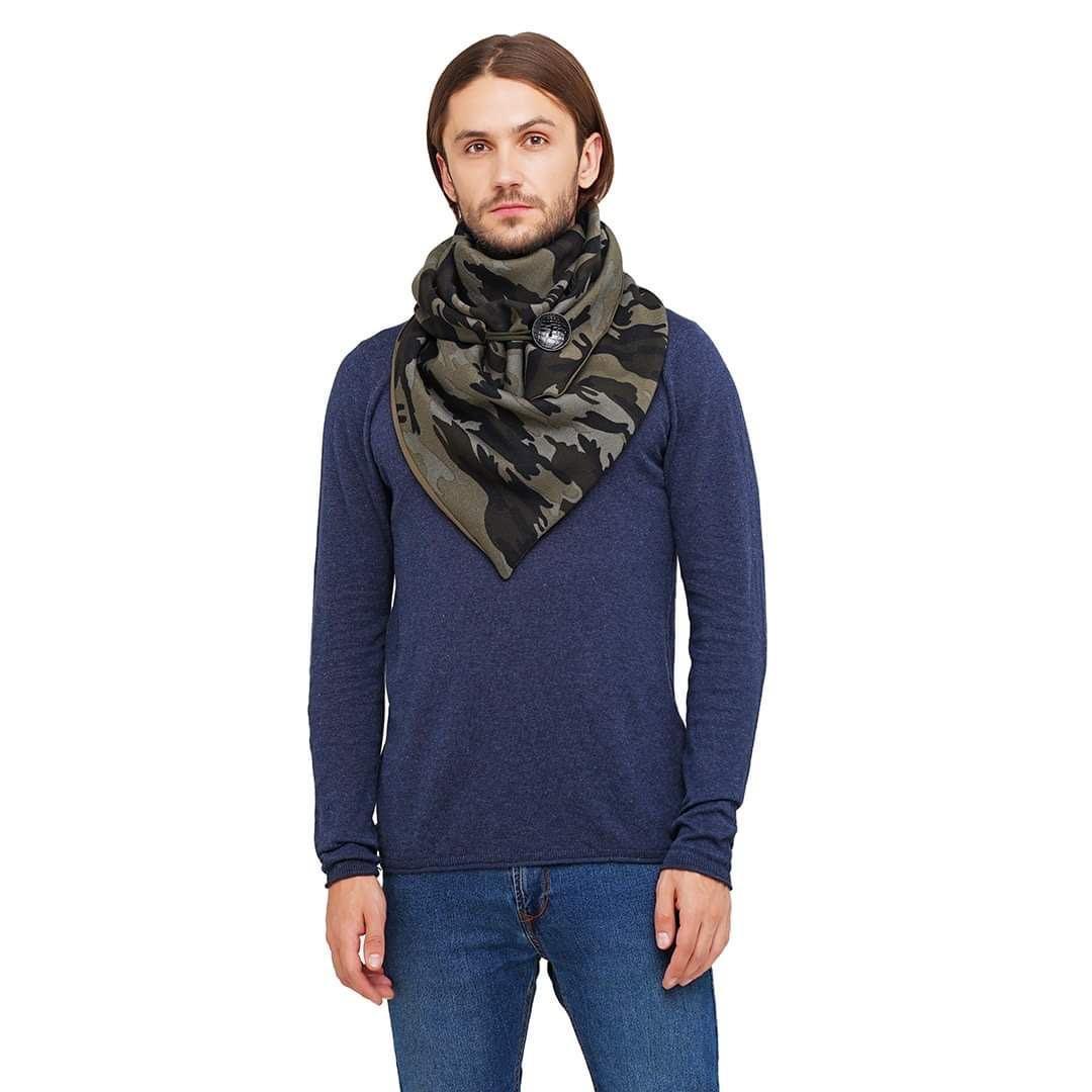 "Шарф-бактус ""Единбург"", шарф-снуд, великий чоловічий шарф"