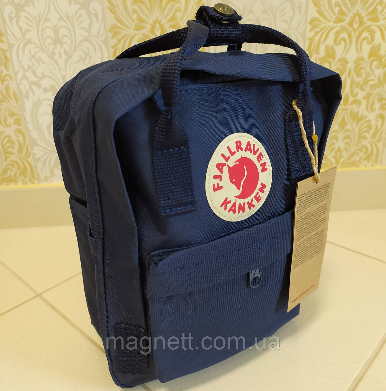 Рюкзак FJALLRAVEN Kanken Mini для детей и взрослых 27x22x9 (темно-синий)