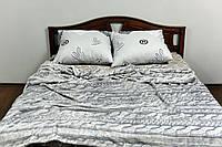Плед покрывало на кровать флис Косичка Gtf