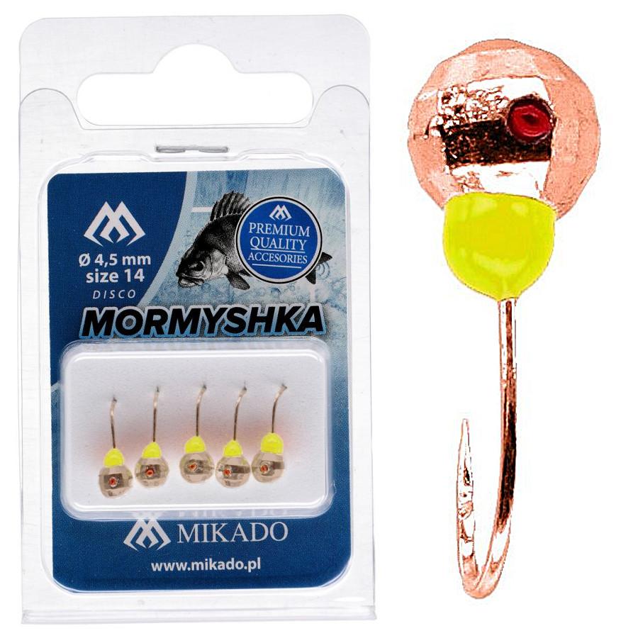 Мормышка Mikado Шар с отверстием граненый 0,3гр медь