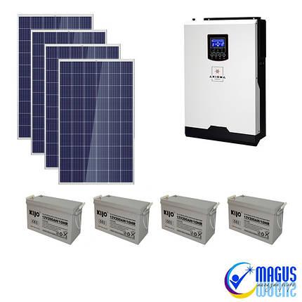 Автономная солнечная станция 5 кВт (3,9 кВт солн. батареям), фото 2