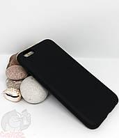 Силиконовый чехол с бархатной подкладкой для iPhone 6 (6s) черный
