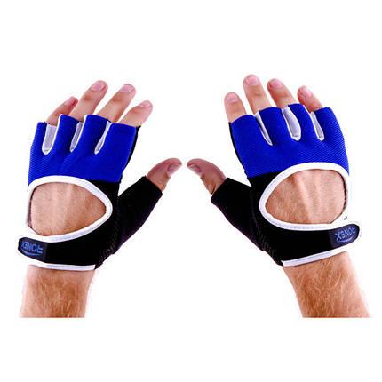 Перчатки атлетические черно-синие Ronex RX-01, размер S, фото 2