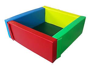 Сухой бассейн квадратный с матом 110х110 см