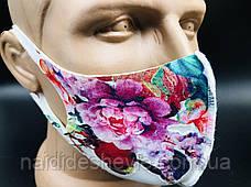 Багаторазова захисна маска - кольорова, фото 3