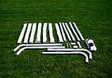 Футбольні ворота RomiSport 300x200x90 см + сітка Польща, фото 2