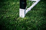 Футбольні ворота RomiSport 300x200x90 см + сітка Польща, фото 4