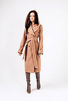 Женское качественное кашемировое пальто с капюшоном