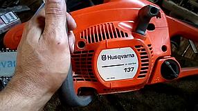 Бензопила Husqvarna 137 (шина 40 см, 4.9 кВт) Цепная пила Хускварна 137, фото 3