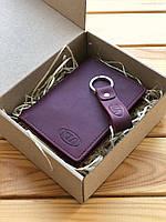 """Картхолдер кожаный+брелок Fresh (обложка для id-паспотра/тех.паспорта) Hand Made с логотипом """"KІА"""""""