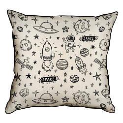 Подушка інтер'єрна з мішковини Space 45x45 см (45PHB_UNI006_WH)