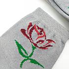 Носки женские демисезонные средние Loft Socks 23-25р серые с цветком 20034238, фото 3