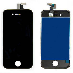 Дисплей (экран) для iPhone 4 A1332 с сенсором (тачскрином) черный Оригинал