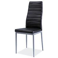 Кухонные стулья модерн черного цвета Signal H-261 BIS с обивкой кожзамом на алюминиевых ножках