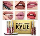 ОПТ Матовая жидкая помада matte liquid lipstick kylie birthday edition набор 6 цветов, фото 3