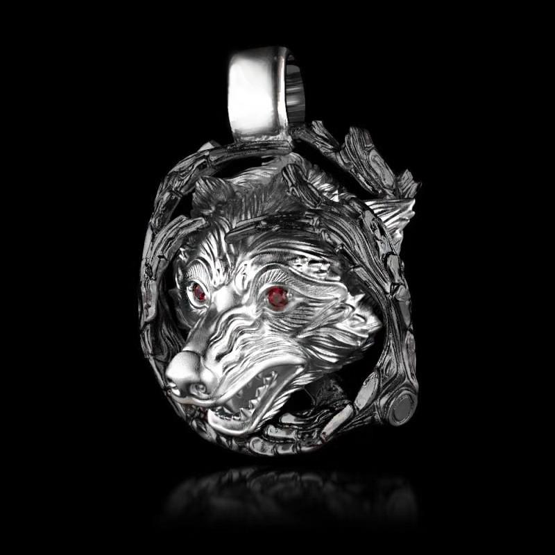 Кулон серебряный Волк ПС-136 Б