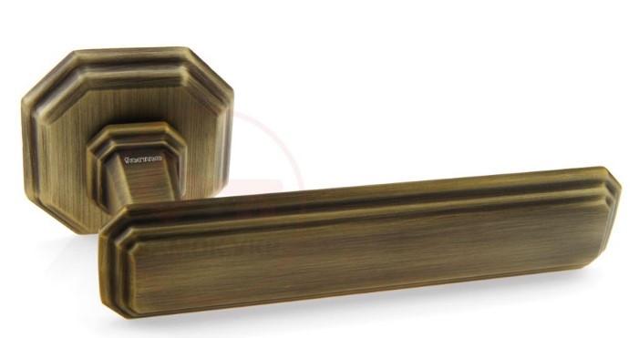 Дверная ручка для входной двери Fadex Themis 217R бронза матовая (Италия)