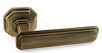 Дверная ручка для входной двери Fadex Themis 217R бронза матовая (Италия), фото 1