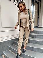 Женские штаны джоггеры c карманами и кулиской (р. 40 -58) 18SH540, фото 1