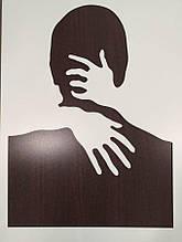 "Настенная картина декоративное панно ""Обними меня"" деревянное"