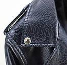 Женская укороченная кожаная куртка с большим воротником и поясом (р. единый 42-46) 78kr490, фото 9