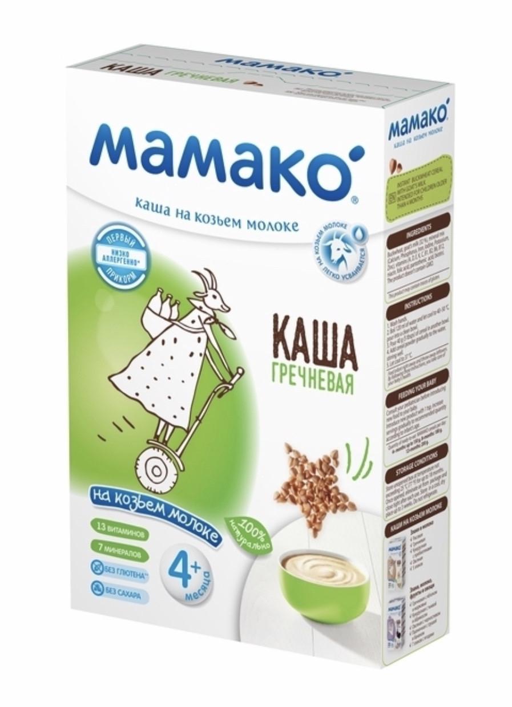 Молочная каша  Гречневая  на козьем молоке МАМАКО с 4 месяцев, 200г