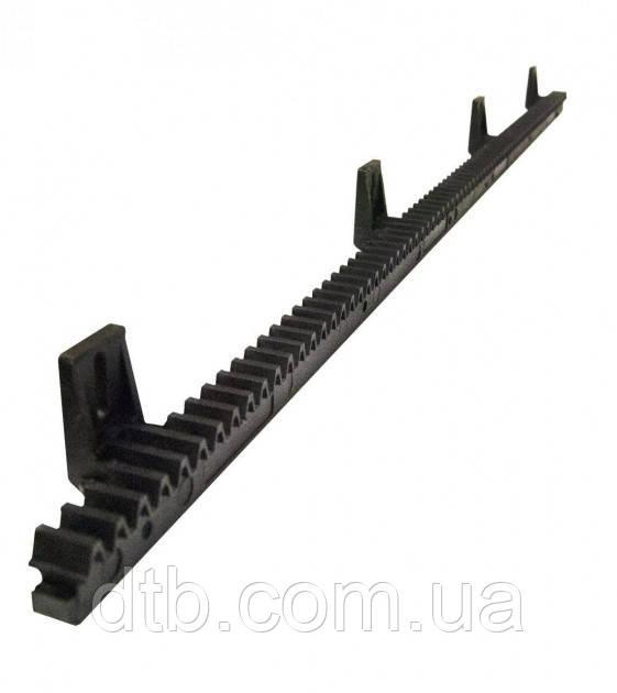 Рейка зубчатая полимерная с металлическим усилителем для ворот до 400 кг