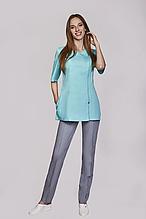 Женская медицинская куртка с декоративной молнией в большой цветовой гамме