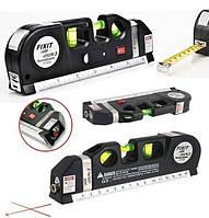 Лазерный уровень со встроенной рулеткой нивелир Fixit Laser Level Pro 3