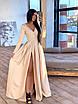 Длинное вечернее платье макси с глубоким V-вырезом и разрезом на расклешенной юбке 66ty1642Е, фото 7