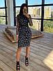 Блестящее платье футляр миди длиной с абстрактным узором и длинным рукавом 66ty1648Q, фото 5