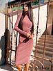 Платье - гольф ниже колена с высоким воротником из трикотажа рубчик р (р. 42-46) 8ty1656, фото 5
