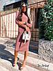 Платье - гольф ниже колена с высоким воротником из трикотажа рубчик р (р. 42-46) 8ty1656, фото 6