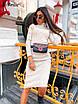 Платье - гольф ниже колена с высоким воротником из трикотажа рубчик р (р. 42-46) 8ty1656, фото 9