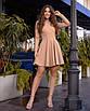 Приталенное платье с расклешенной юбкой и длинным рукавом в расцветках (р. 40-44) 14ty1672, фото 5